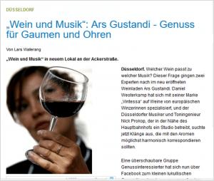 WZ Artikel - Ars Gustandi-Vintessa